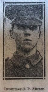 Oliver P Abram, Yorkshire Herald, June 1915
